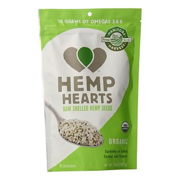 商品Manitoba Harvest Organic Hemp Hearts Raw Shelled Hemp Seeds, 7 Oz图片