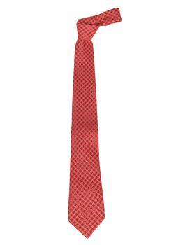 商品Etro Check Patterned Tie - Only One Size / Red图片