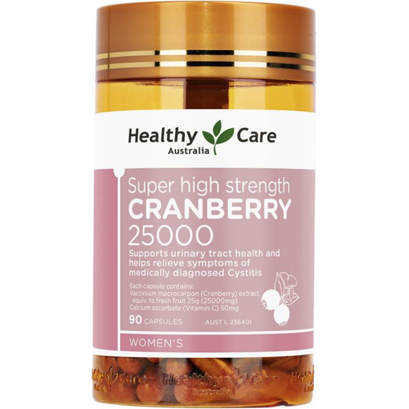 商品澳洲进口healthy care高浓缩蔓越莓胶囊精华90粒女性卵巢泌尿保养图片