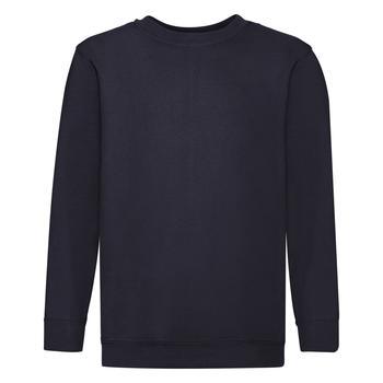 商品Fruit Of The Loom Childrens Big Boys Set in Sleeve Sweatshirt (Pack of 2) (Deep Navy)图片