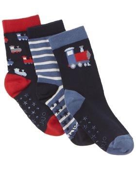 商品JoJo Maman Bebe 3pk Classic Train Socks图片