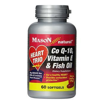商品Heart Trio Co Q-10 With Vitamin E And Fish Oil Softgels - 60 Ea图片