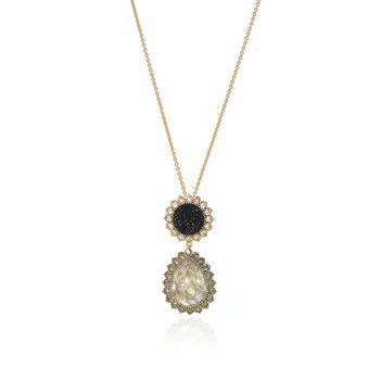 商品Swarovski Millennium Gold Tone Velvet And Crystal Necklace 5484172图片