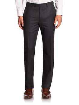 商品COLLECTION Wool Flat-Front Pants图片