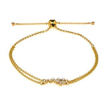 商品Swarovski Botanical Gold Tone And Czech White Crystal Bracelet 5535790图片