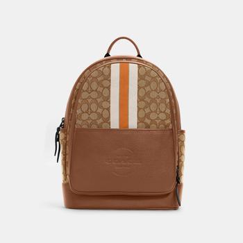 商品COACH Thompson Backpack In Signature Jacquard With Varsity Stripe图片