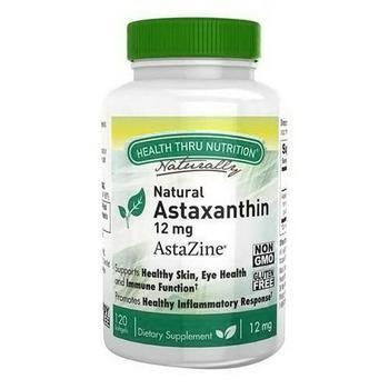 商品Health Thru Nutrition Natural Astaxanthin AstaZine 12 Mg Softgels, 30 Ea图片