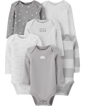 商品婴儿长袖连体衣6件装图片
