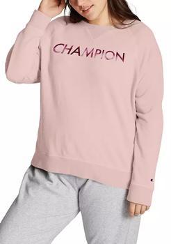 商品Plus Size Campus French Terry Crew Sweatshirt图片