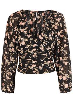 商品Final Rose floral-print chiffon top图片