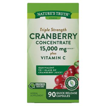 商品Ultra Triple Strength Cranberry Concentrate 15,000mg Plus Vitamin C图片