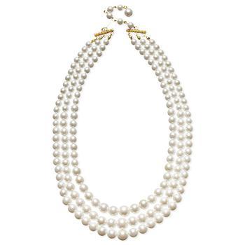商品Three Row White Simulated Pearl (10 mm)图片