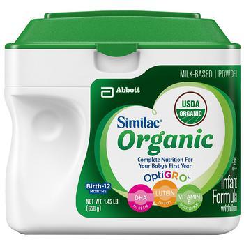 商品Similac Advance Organic 有机婴儿配方奶粉1段 658g图片