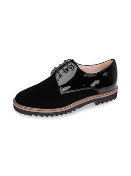 商品Girl's Patent Leather & Suede Dress Shoes图片