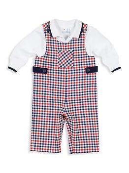 商品Baby Boy's Check Overall and Polo Set图片