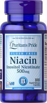 商品口服烟酰胺维生素B3 去黄祛痘烟酸 500 mg 100片/瓶图片