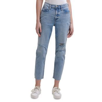 商品高腰九分牛仔裤图片