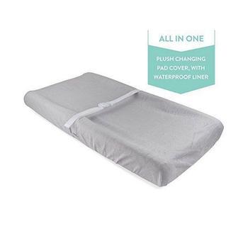 商品Water Resistant Plush Velvet Change Pad Cover图片