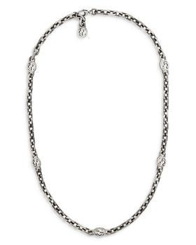 """商品Sterling Silver Interlocking Chain Necklace, 23.6""""图片"""