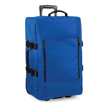 商品Bagbase Escape Dual-Layer Medium Cabin Wheelie Travel Bag/Suitcase (19 Gallons) (Sapphire Blue) (One Size)图片