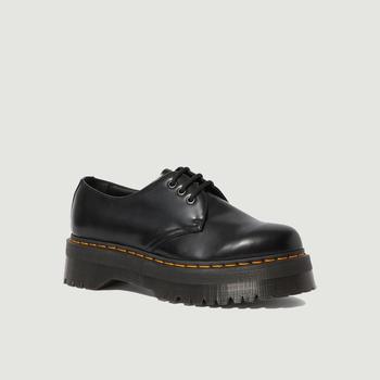 商品1461 platform leather derbies Black polished smooth Dr. Martens图片