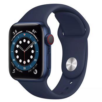 商品Apple Watch Series 6 40m GPS + Cellular, Blue Aluminum Case with Deep Navy Sport Band图片