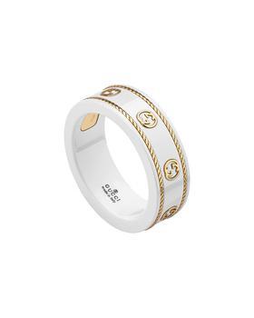 商品Gucci Yellow Gold Cz Icon Ring图片