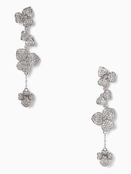 商品precious pansy statement linear earrings图片