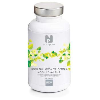 商品Nutrapure Vitamin E 400iu (Natural D-Alpha) 120 Capsules图片