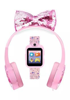 商品PlayZoom 2 Interactive Educational Kids Smartwatch with Headphones: Pink Sparkle图片