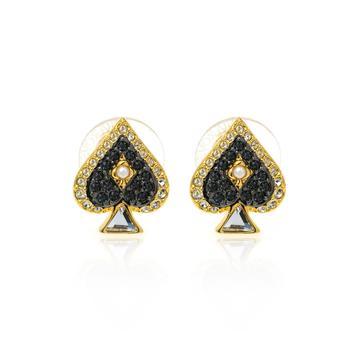 商品Swarovski Tarot Magic Gold Tone Dark Multi Colored Crystal Earrings 5510528图片
