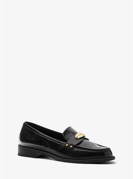 商品Finley Crinkled Leather Loafer图片