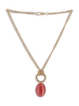 商品Elizabeth Gold-Plated & Rhodonite Pendant Necklace图片