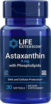 商品Life Extension Astaxanthin with Phospholipids - 4 mg (30 Softgels)图片