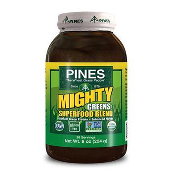 商品Pines Organic Mighty Greens Super Food Blend Hemp Protein Powder - 8 Oz图片
