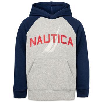 商品Nautica Little Boys' Logo Graphic Pullover Hoodie (4-7)图片