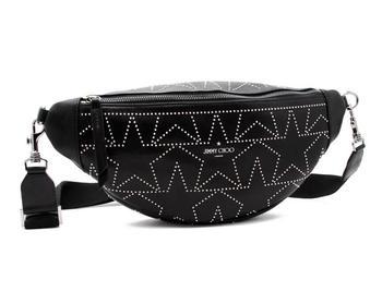 商品Jimmy Choo Mens Kirt Star Studded Belt Bag in Black/Silver图片