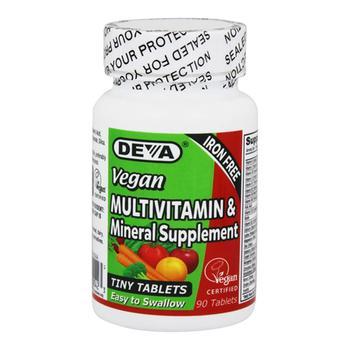 商品Deva Nutrition Vegan Iron Free Multivitamin And Mineral Supplement Tablets, 90 Ea图片