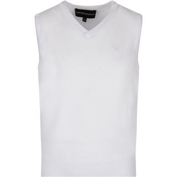 商品Armani Collezioni White Vest For Boy With Iconic Eagle图片