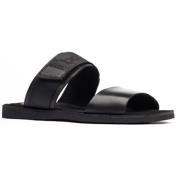 商品Base London Mens Katsu Leather Sandals (Black)图片