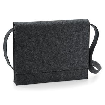 商品BagBase Felt Messenger Bag (Charcoal Melange) (One Size)图片