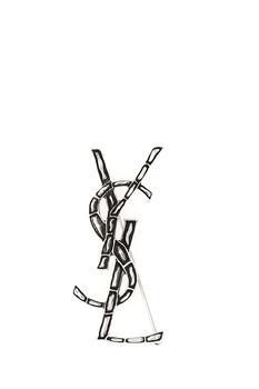 商品Saint Laurent Opyum Brooch - Only One Size / Silver图片