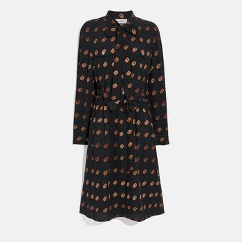 商品COACH Print Tie Neck Dress图片