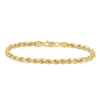 商品Amour Fashion Rope Chain Bracelet in 14k Yellow Gold JMS005092图片