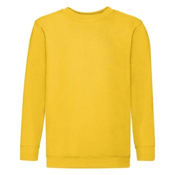 商品Fruit Of The Loom Childrens Big Boys Set in Sleeve Sweatshirt (Pack of 2) (Sunflower)图片