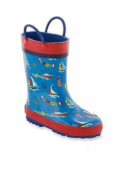 商品All Over Nautical Print Rain Boots Toddler Boys - Youth图片