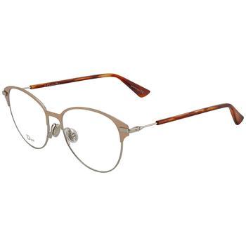 商品Dior Ladies Rose Gold Tone Oversized Eyeglass Frames ESSENCE14 0I20 53图片