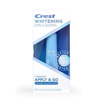 商品Crest Whitening Emulsions On-the-Go Leave-On Teeth Whitening Pen, 0.35 Oz (10 G), 0.35 ounces图片