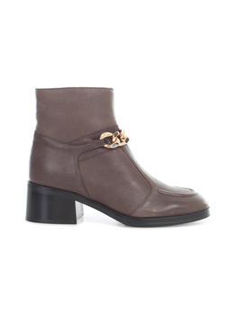 商品See By Chloé Chain Embellished Ankle Boots - IT36 / Brown图片