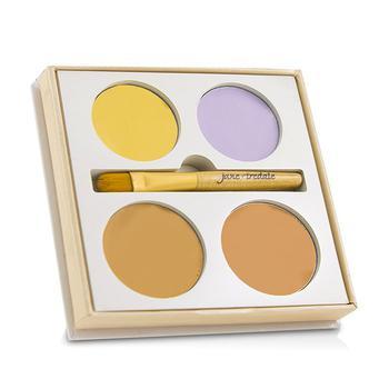 商品Jane Iredale 4色遮瑕盘Corrective Colors Kit (4x遮瑕+1x刷具) 9.9g/0.35oz图片